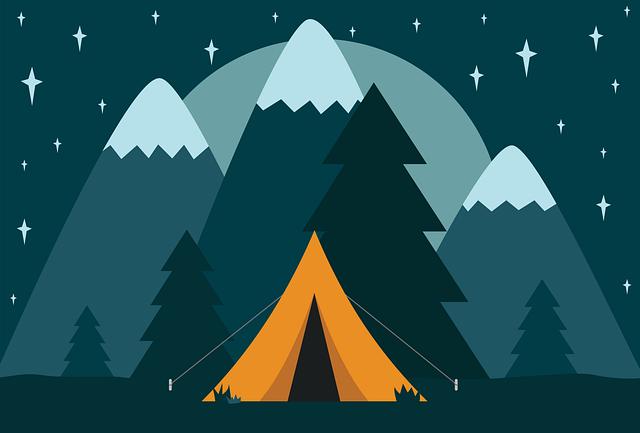 Baches pour tente au camping